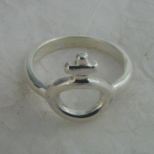 Woman Silver Ring There Is Hj Initial Marking