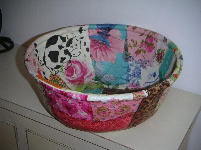 Paper mache bowl yadaim yozrot flickr for How to make a newspaper bowl