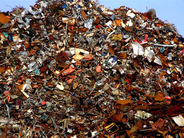 pile of metal waste