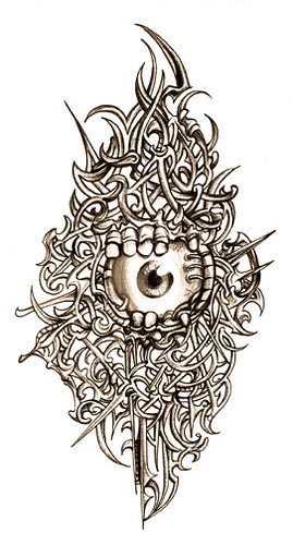 Biomechanical Tattoo Line Drawing : Biomechanical eye drawings