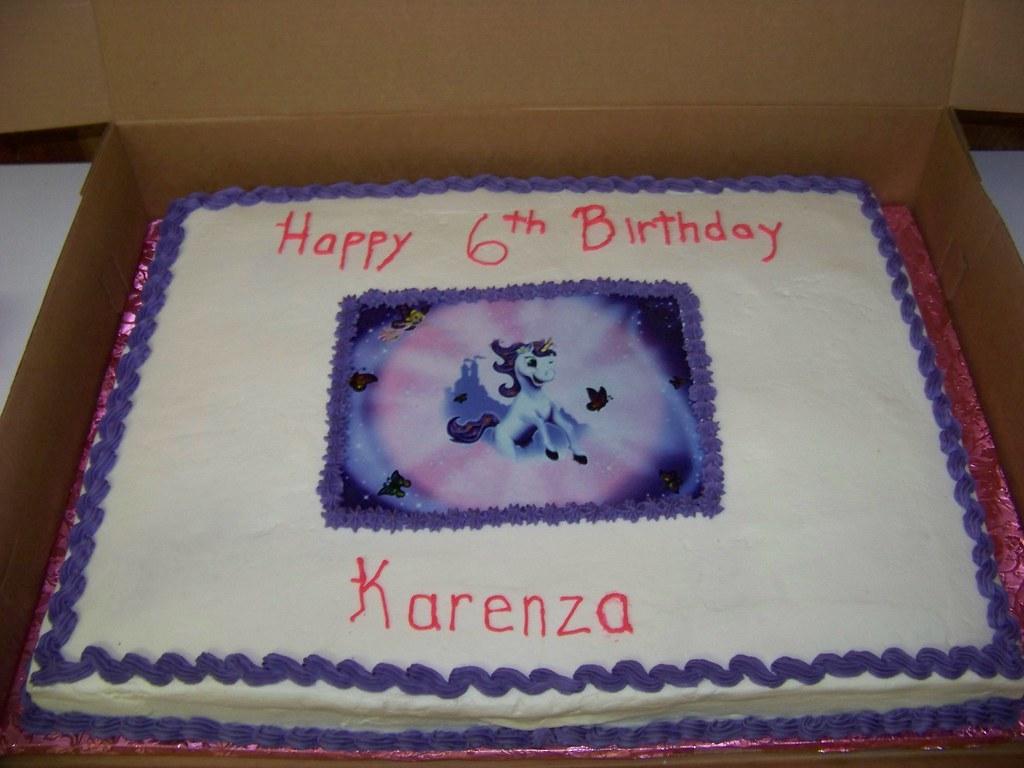 Fairy Tale Unicorn Birthday Cake
