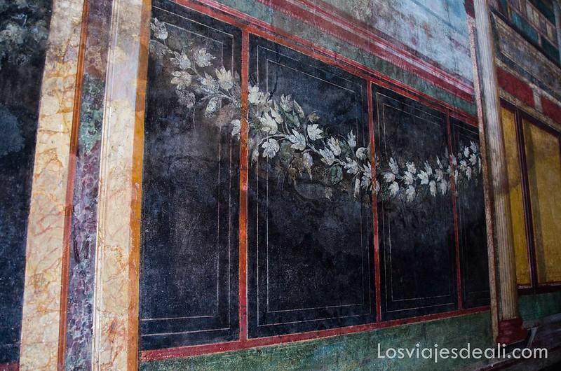 frescos en la visita a Pompeya