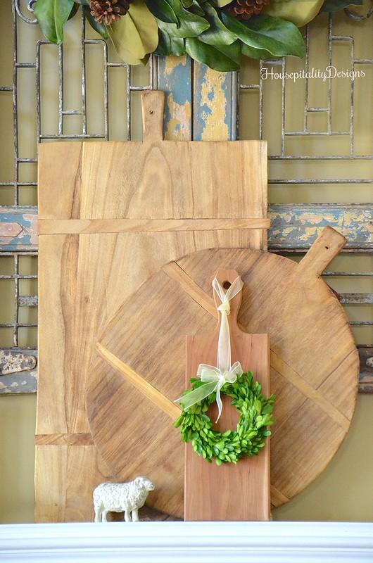 Breadboards-Mantel-Antique Shutters-Housepitality Designs