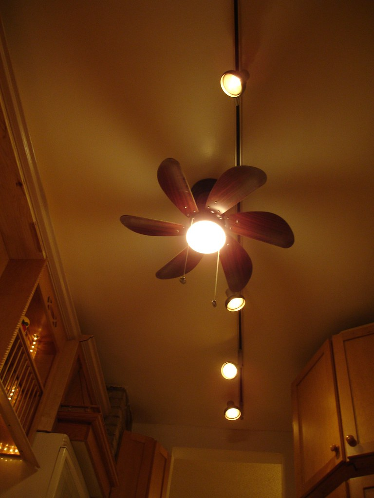 Kitchen Ceiling Track Lighting And Fan S3636columbus
