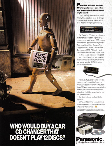 Vintage Ad #430: Because a 12-CD Changer is the Bare Minimum | by jbcurio