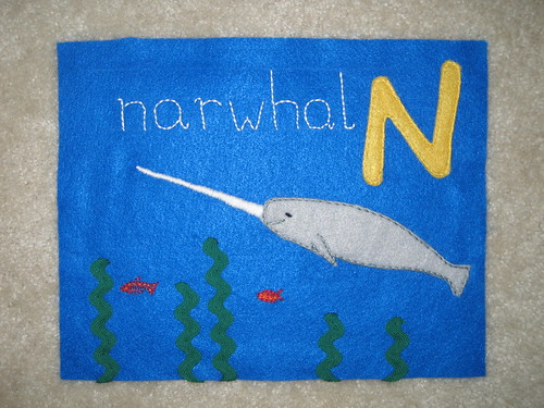 "Baby book ""Narwhal"" 