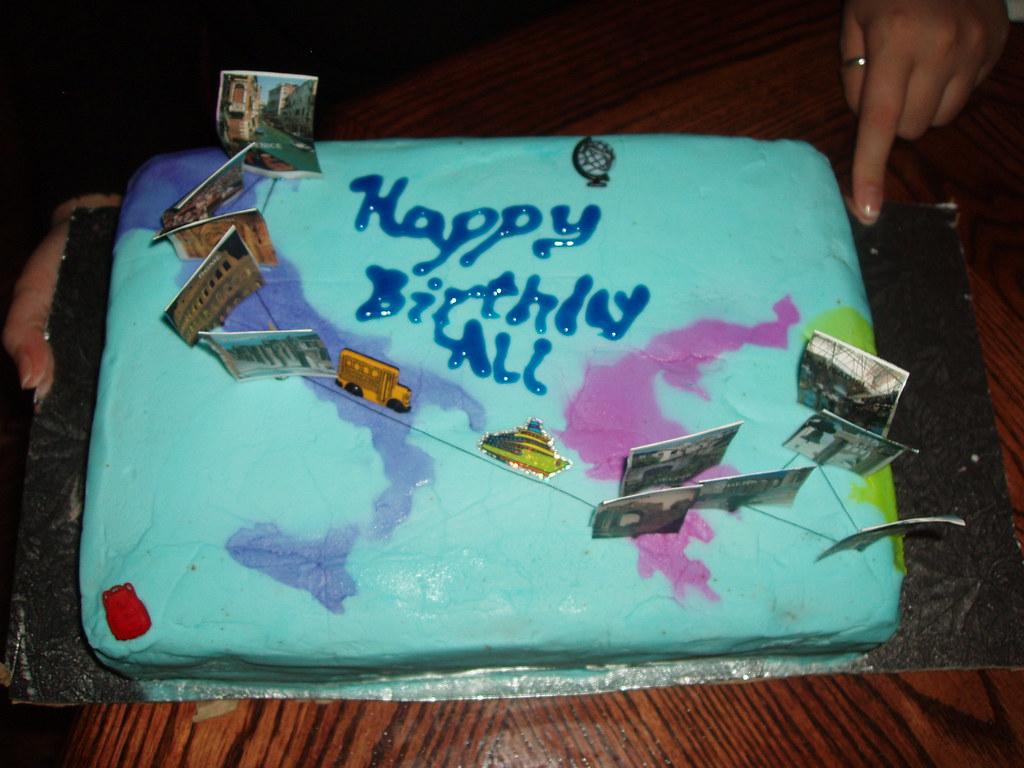 My Cake 31st Birthday My Birthday Cake Showing The Trip Flickr