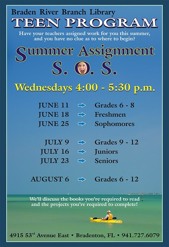 summer assignment sos for teens braden river branch l