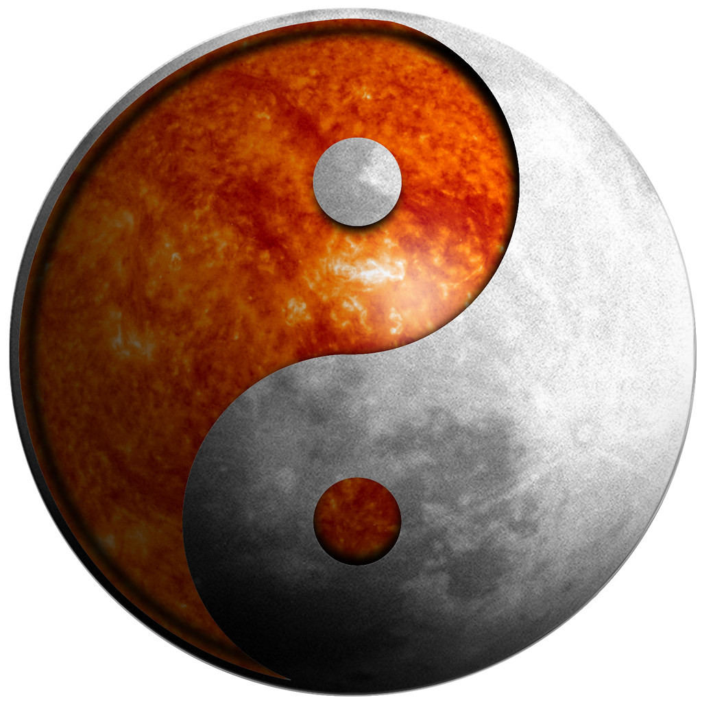Yin Yang Moon Sun Illustration Yin Yang Is A Chinese Sym Flickr