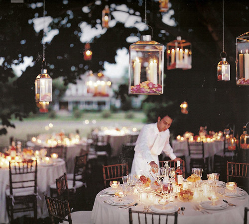 candlelit chandelier reception | by mnwedding08