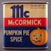 McCormick Pumpkin Pie Spice Tin