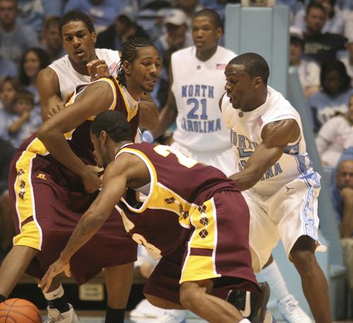 UNC Men's Basketball Team | UNC vs. Shaw - Alex Stepheson ...