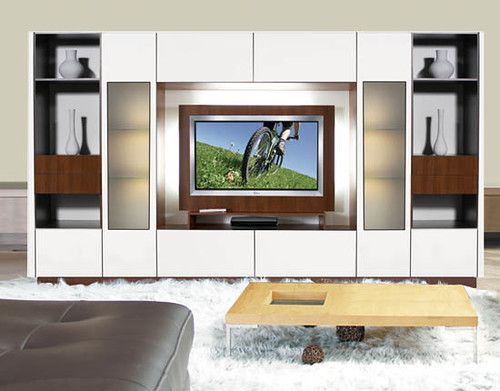 Victor Wall Unit for Thin Panel Mounted TV www