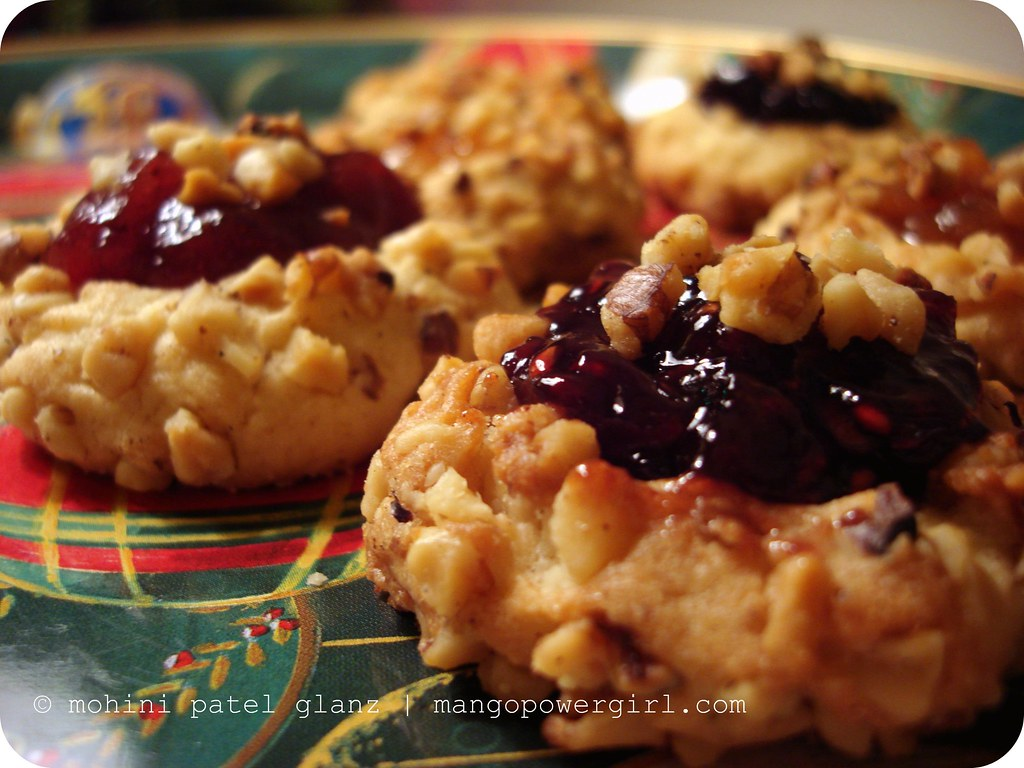Raspberry Walnut Thumbprints