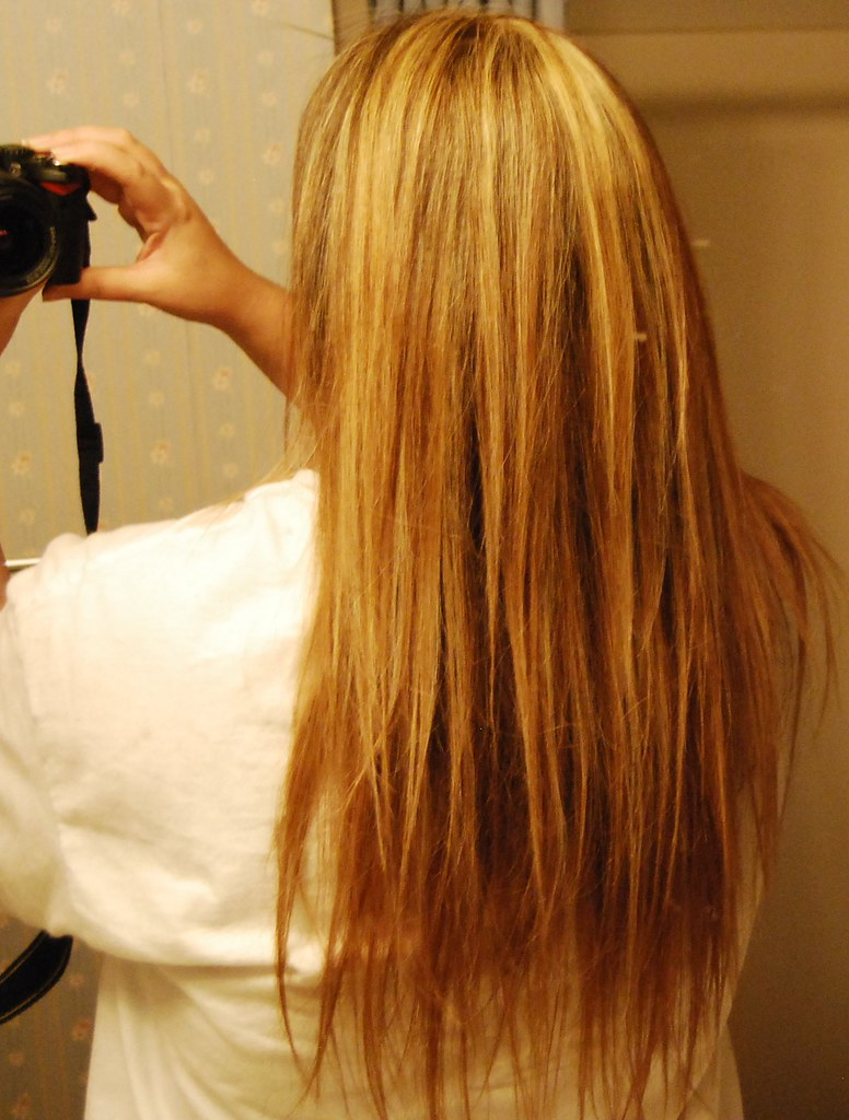 my stringy hair i just got my hair did well highlighted f flickr