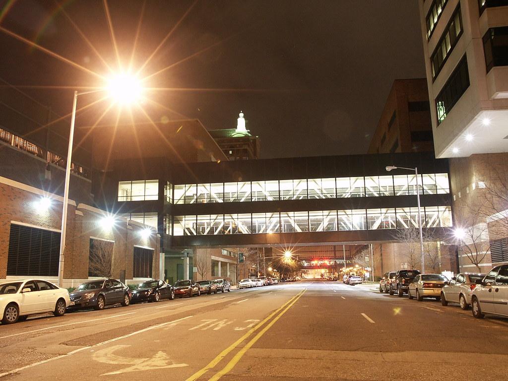 UAB Hospital Skywalk | 19th Street looking down towards 7th