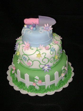 Garden Party Cake Images : Garden Party Cake This was for a friend of mine who is ...