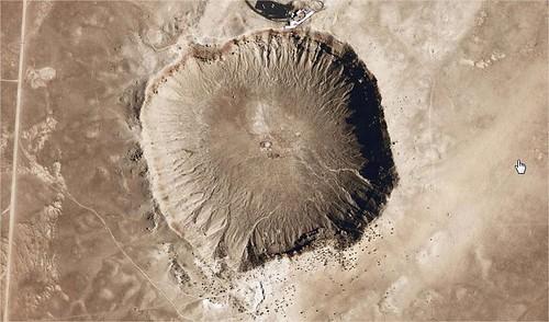 El gran crater de Arizona