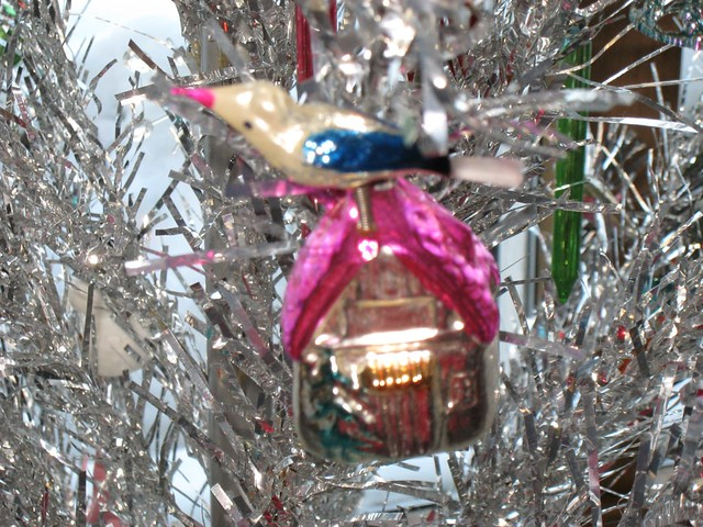 Vintage 1950 39 S Era Bird House Ornament This Is My