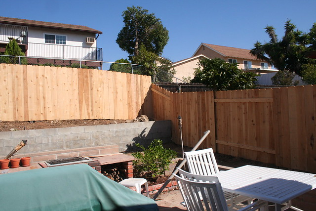 New Backyard Fence : New backyard fence  Flickr  Photo Sharing!