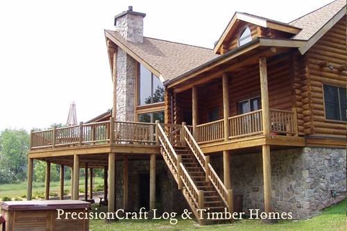 By precisioncraft log timber homes located in pennsylv for Custom log home plans