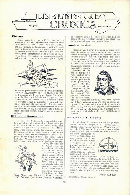 Ilustração Portugueza, No. 470, February 22 1915 - 2