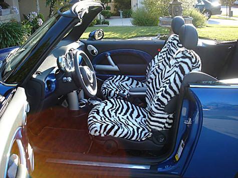 Zebra Print Seat Covers