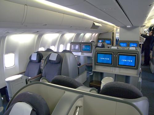 United business class sleeper cabin (B767) | United's new ...