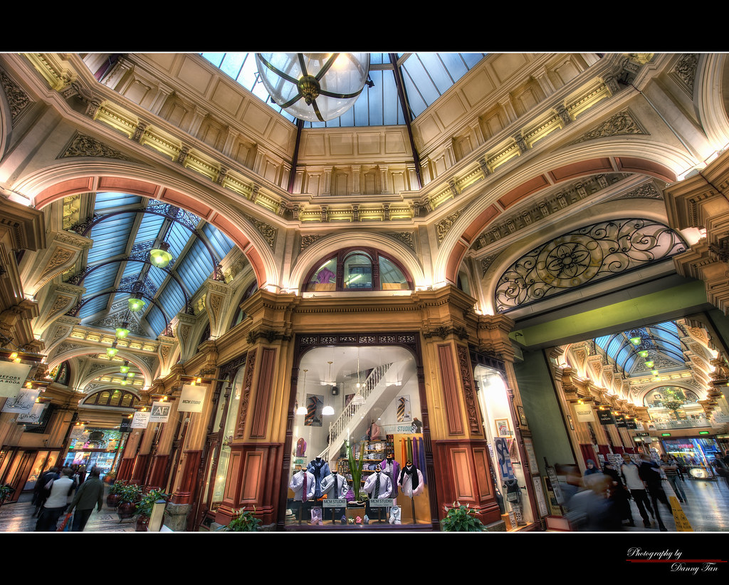 The Block Arcade Melbourne Hdr Block Arcade Is A