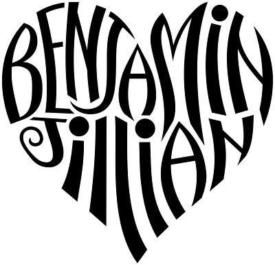 Benjamin jillian heart design a custom design of for Your name is tattooed on my heart