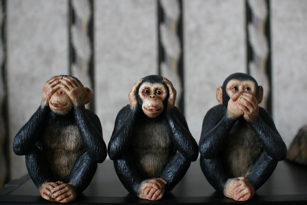three wise monkeys see no evil hear no evil speak no e flickr. Black Bedroom Furniture Sets. Home Design Ideas