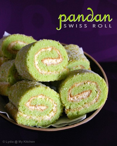 Pandan Swiss Roll | by Lydia @ My Kitchen