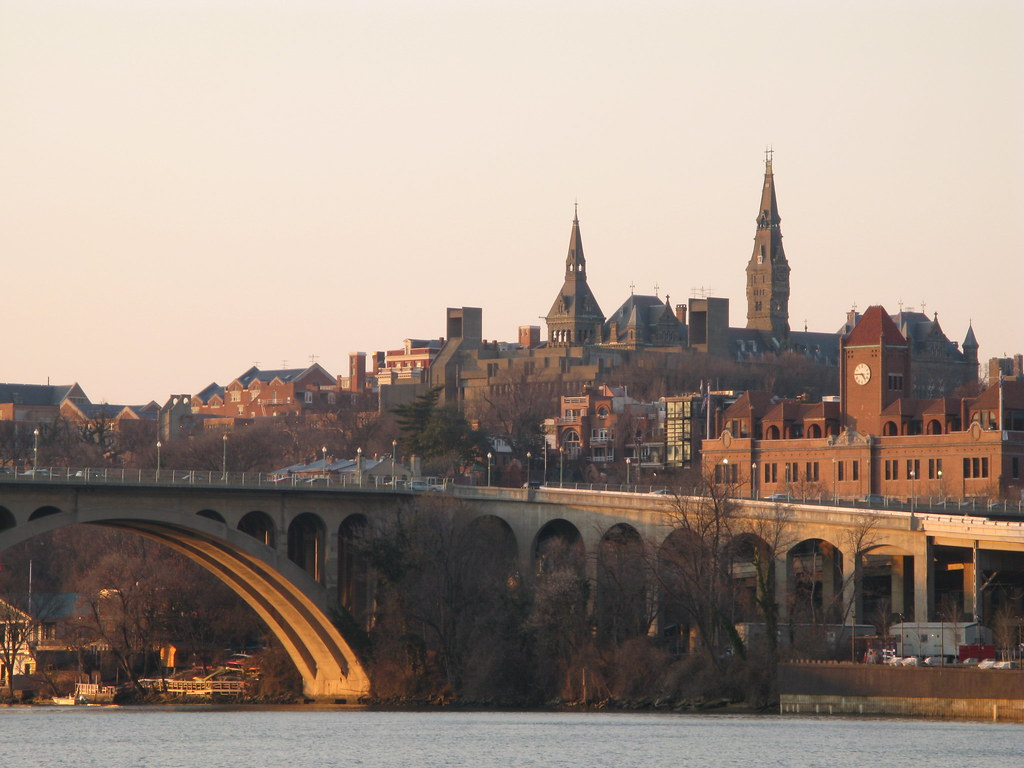 Georgetown Above Key Bridge A View Of Georgetown