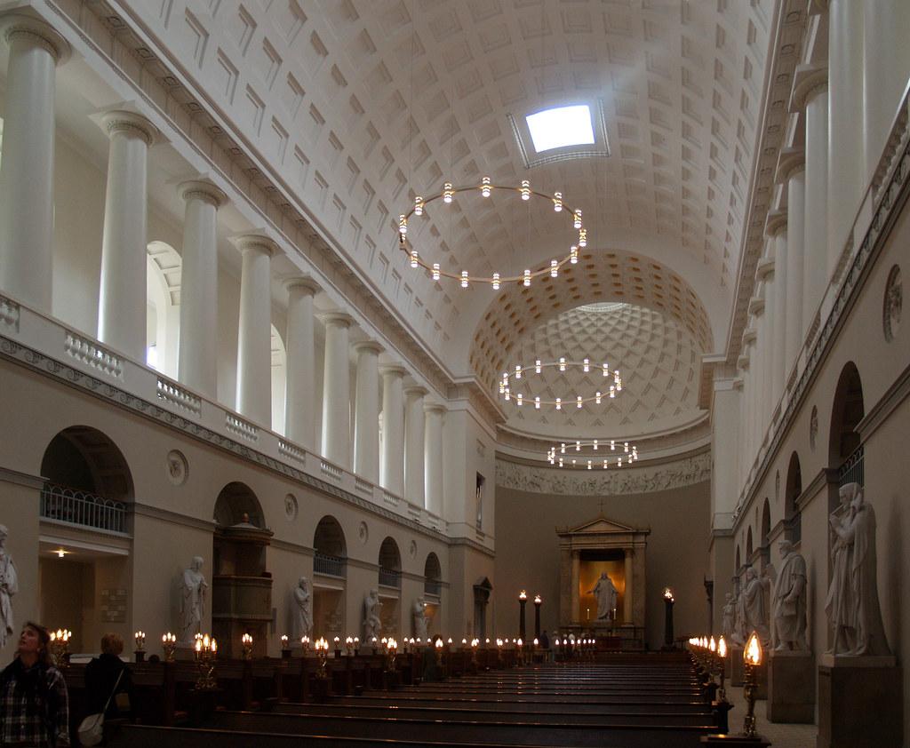 c f hansen  nave  copenhagen cathedral  1811