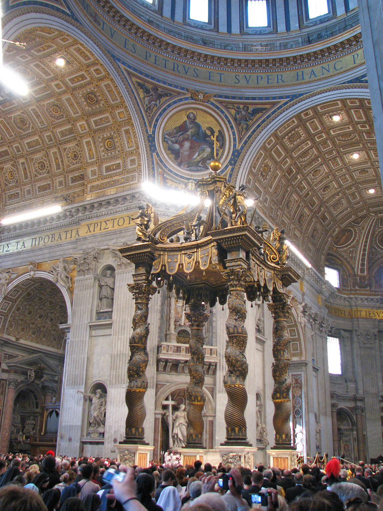 St Peter S Basilica The Baldachin By Bernini At The