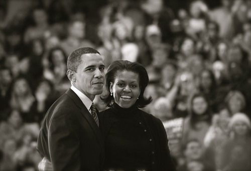 Barack and Michelle Exit the Stage | by PoliticalCourier