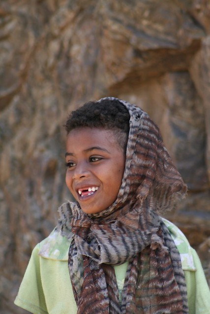 Eritrean child smiles for the camera.