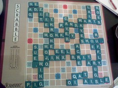 A. wins 298-282 (timed game) | by achmorrison
