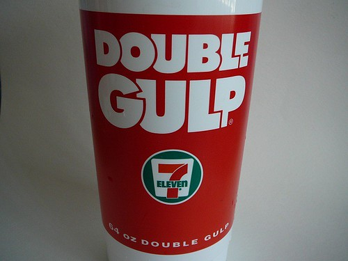 DOUBLE GULP without side logos | 7-eleven from Wendy | Majiscup Paper Cup Museum 紙コップ淡々記録 | Flickr