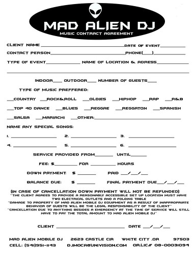 Sample Dj Contract Agreement  BesikEightyCo