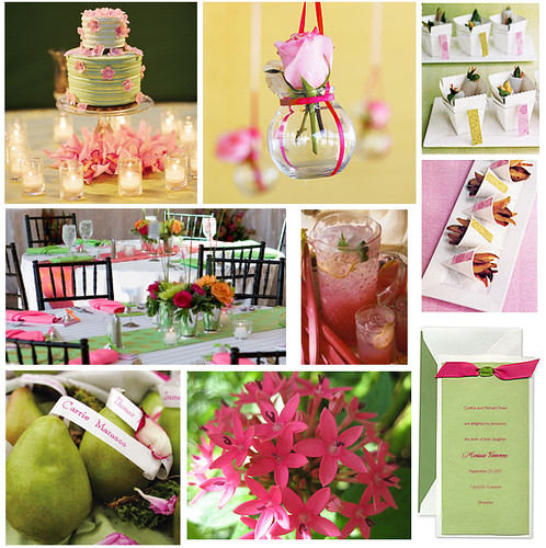 Pink And Green Baby Or Bridal Shower Theme