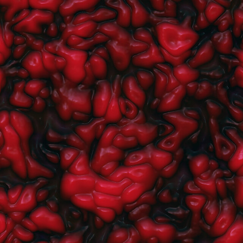pink  red liquid using perlin noise   bump   coloring