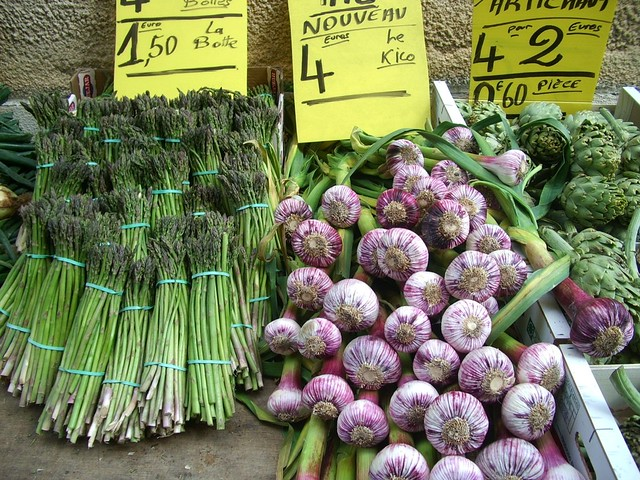 Asparagus and New Garlic