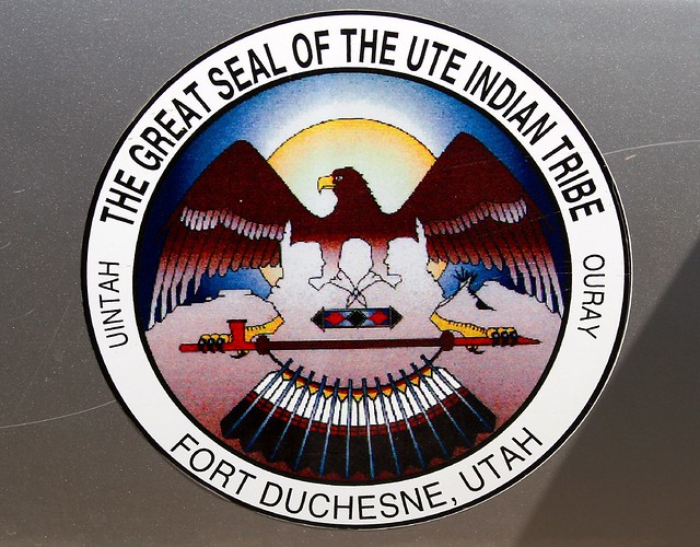 ute tribal seal cool logo on the side of a ute tribe polic