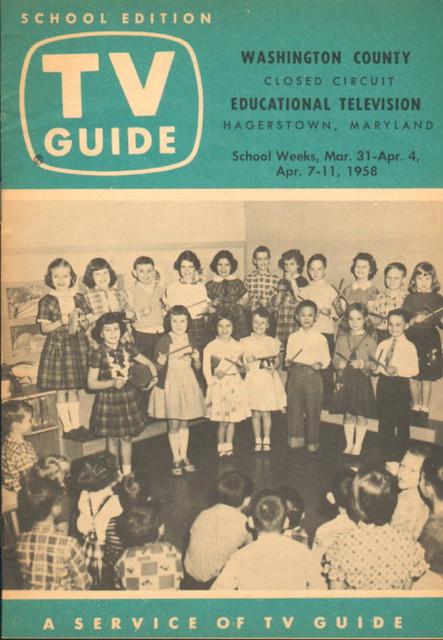 tv guide school edition march 31 1958 a curiosity i foun flickr. Black Bedroom Furniture Sets. Home Design Ideas