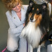 Aleta Canady and her Rough Collie