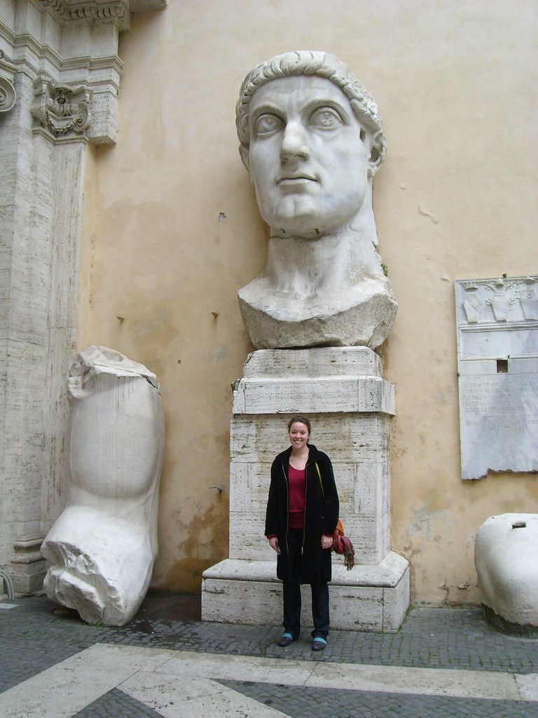 Giant Head And Bicep Of Constantine The Great His Toe And Flickr