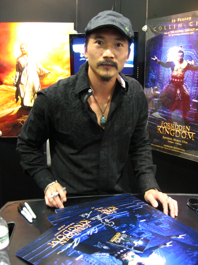 Collin Chou signs my poster | He was there to promote ...