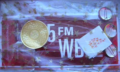 WBEZ gift bag with matches & buttons | by TheeErin