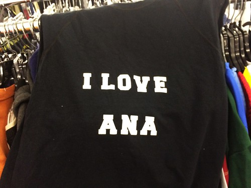 I Love Ana Sleeveless at Thrift Store (Feb 12 2016)
